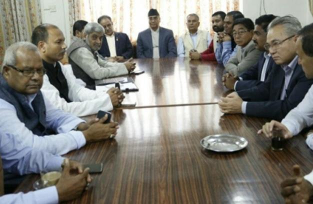 कांग्रेस माओवादी केन्द्र र संघीय गठबन्धनको बैठक सकियो, रामचन्द्र पौडेलको चार बुँदे प्रस्ताव अस्वीकृत