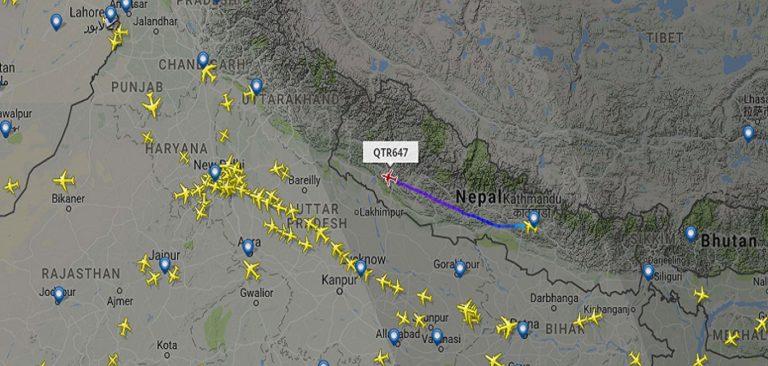 नेपाली हवाई रुटमा भारतको नियन्त्रण