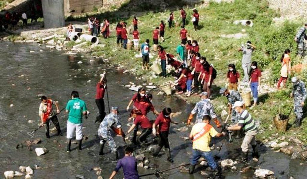 देशभर जागरण फैल्याउन सफल, वाग्मती सफाइ महाअभियान