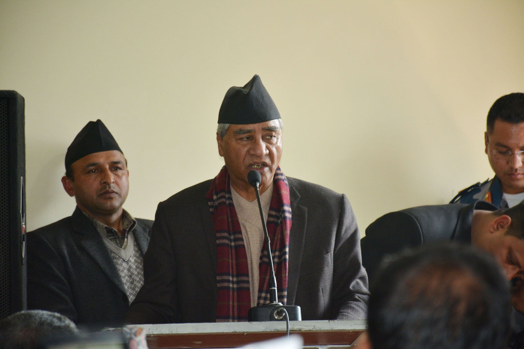 प्रेस स्वतन्त्रता बिना प्रजातन्त्र बाँच्दैन - सभापति देउवा
