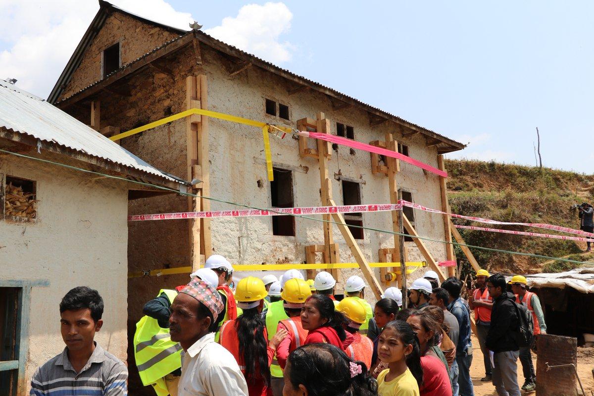 भूकम्पको तीन वर्षपछि प्रबलीकरण शुरु