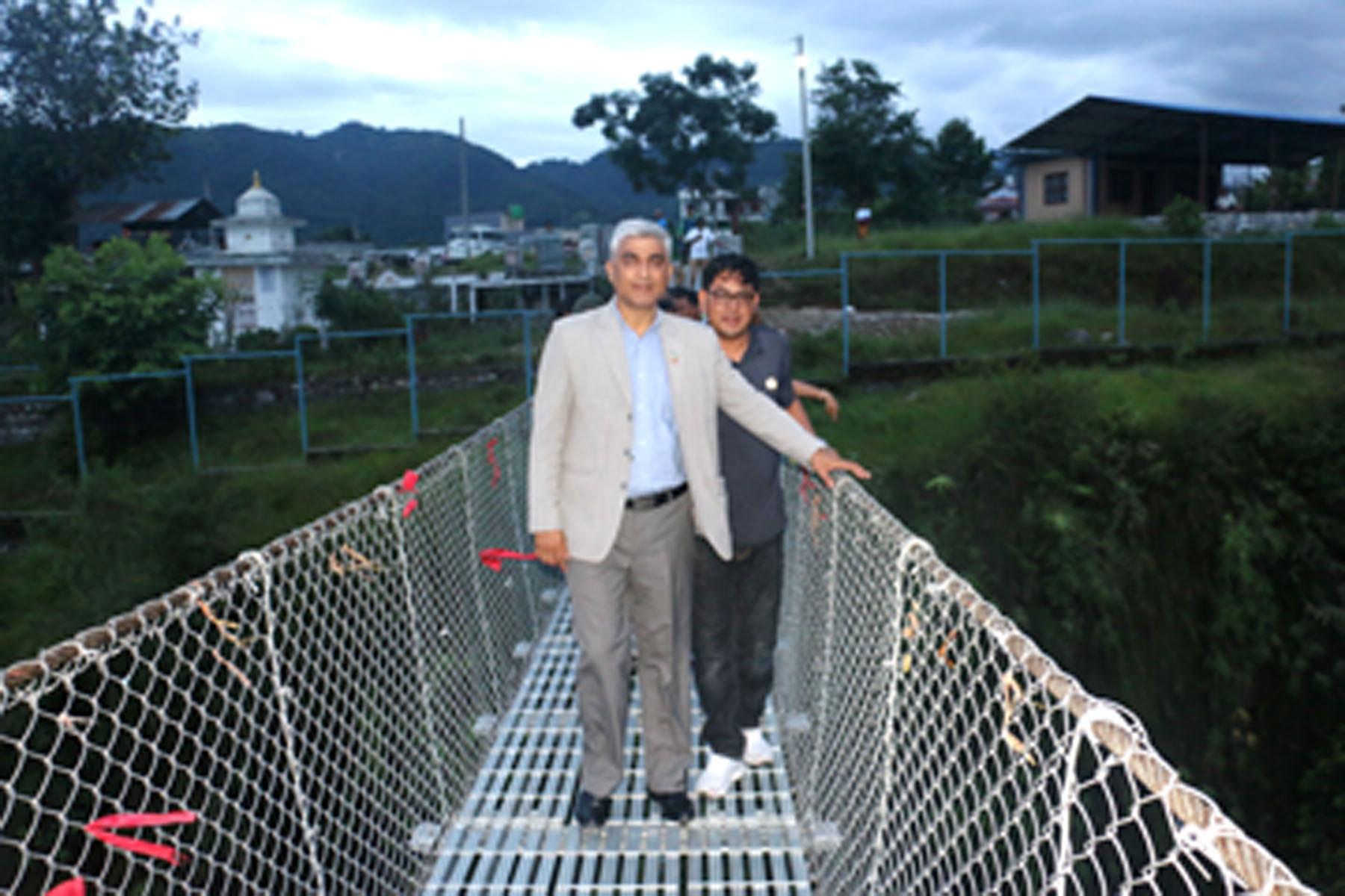 प्राकृतिक पुललाई पर्यटकीय गन्तव्य बनाउँदै प्रदेश सरकार