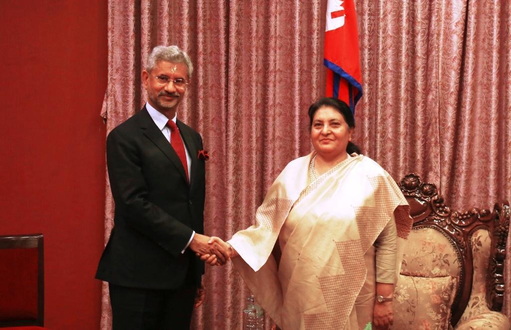 राष्ट्रपतिसँग भारतीय विदेशमन्त्रीको शिष्टाचार भेट