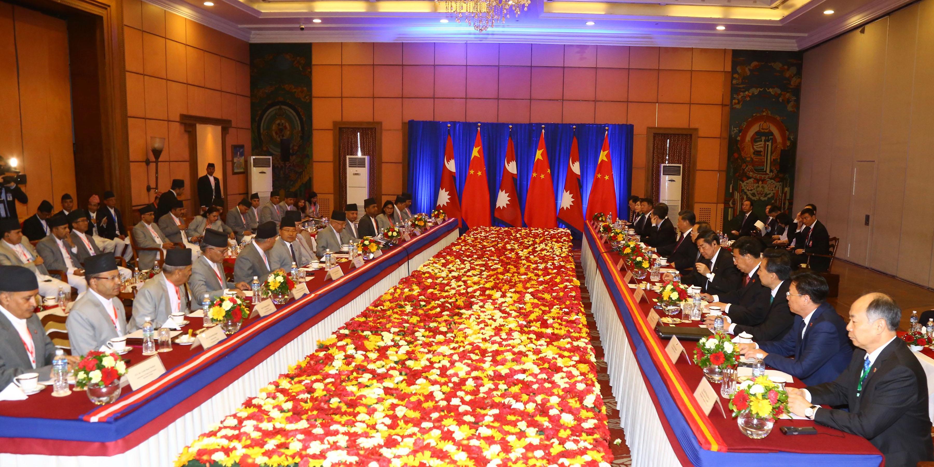 नेपाल-चीन प्रतिनिधिमण्डलस्तरीय वार्ता शुरु
