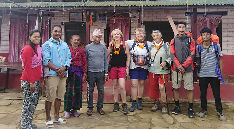 नेवारी घरबासमा विदेशी पर्यटक