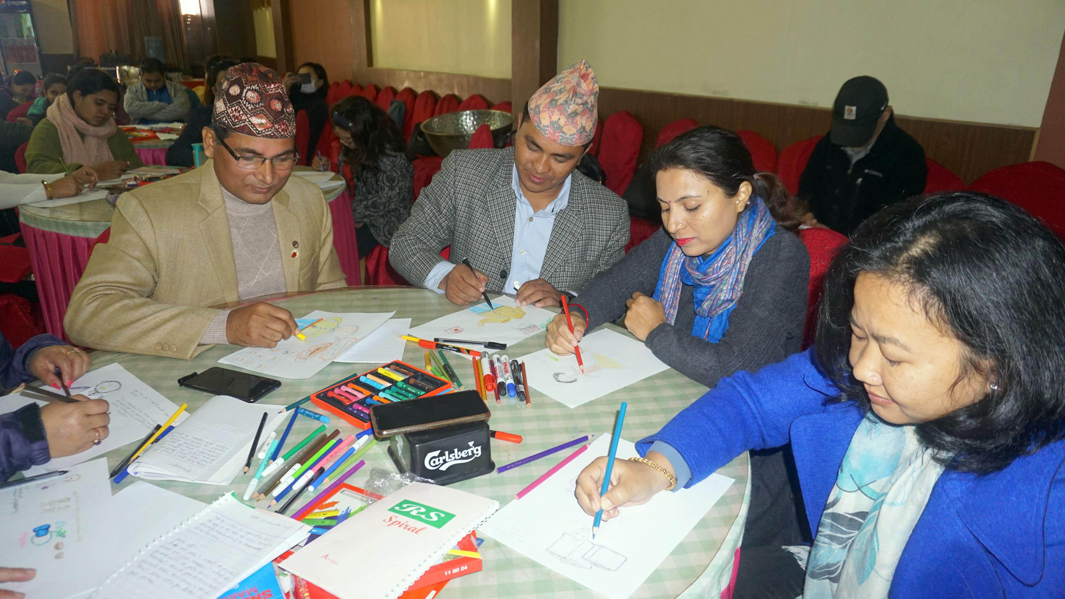 'आर्ट थेरापी' : आघातमा राहत