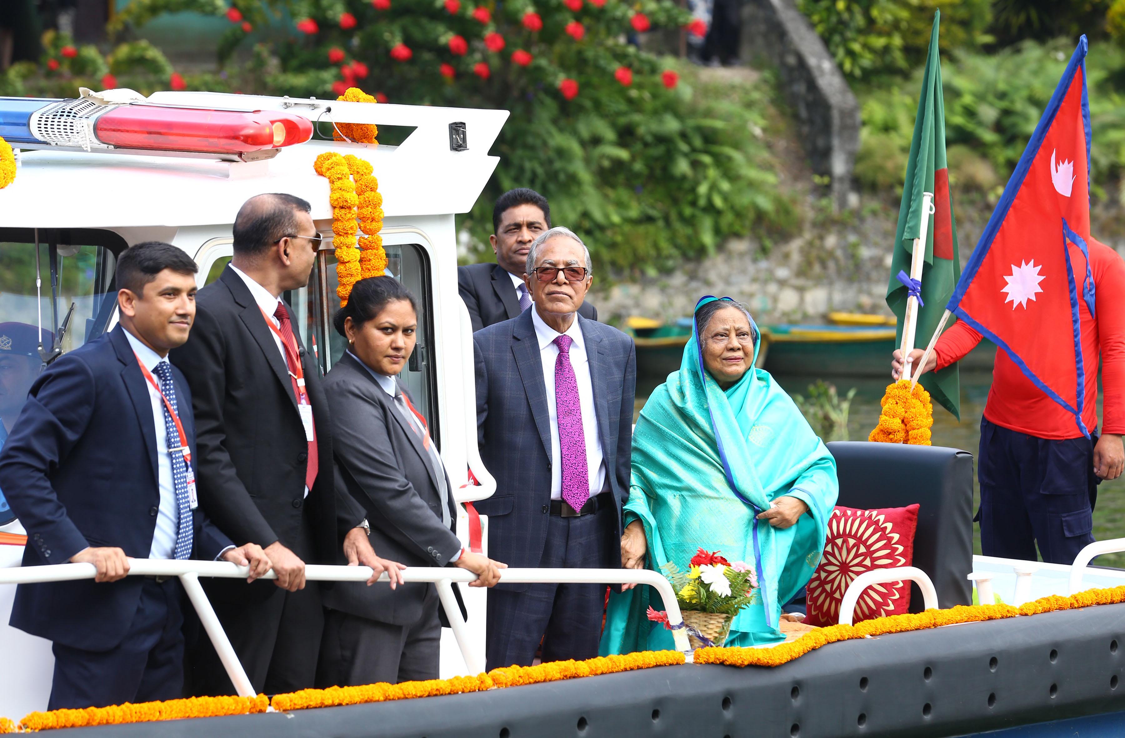 बङ्गलादेशका राष्ट्रपति पोखरामा
