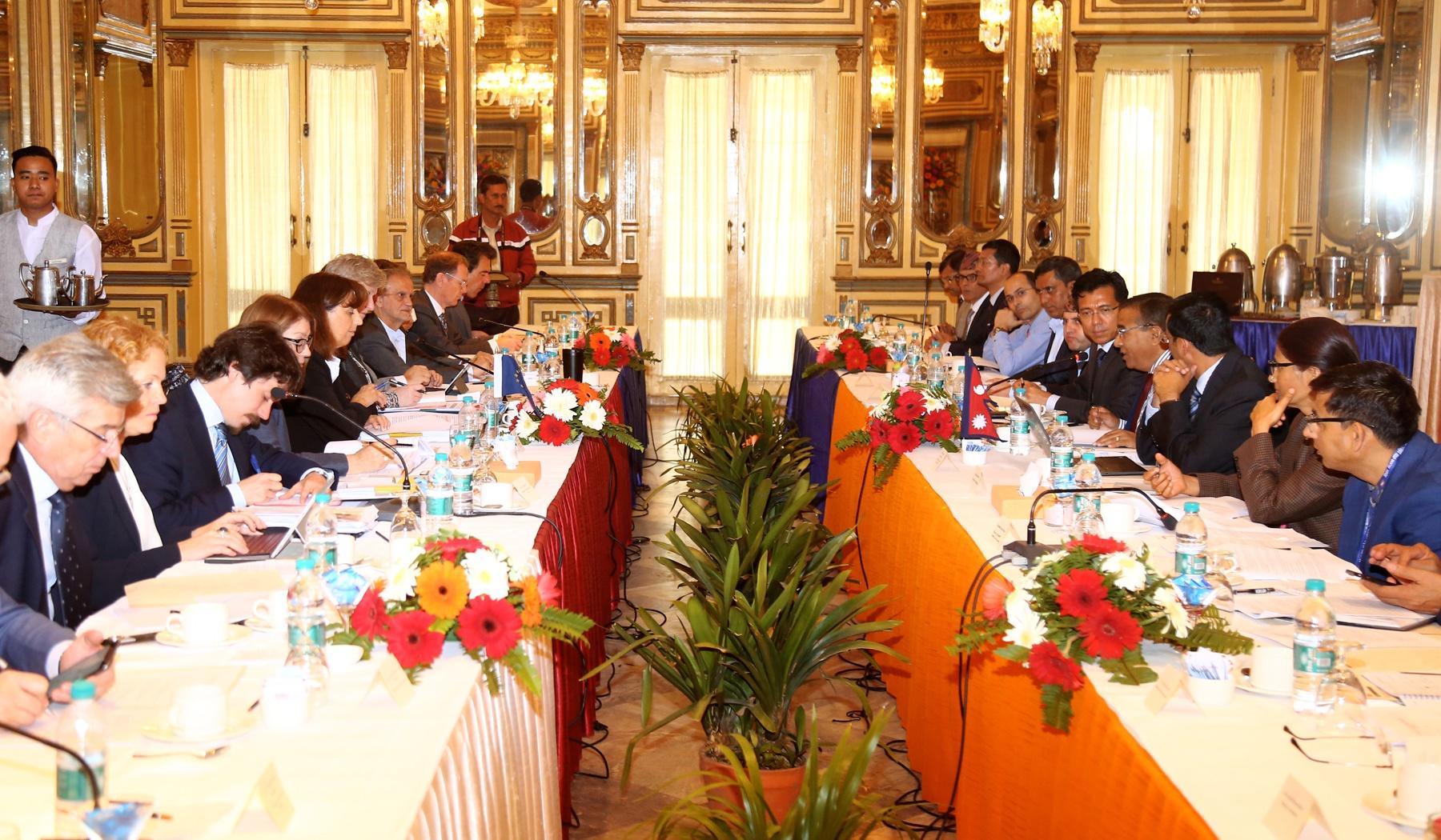 नेपाल-युरोपेली सङ्घ संयुक्त आयोगको बैठक शुरु