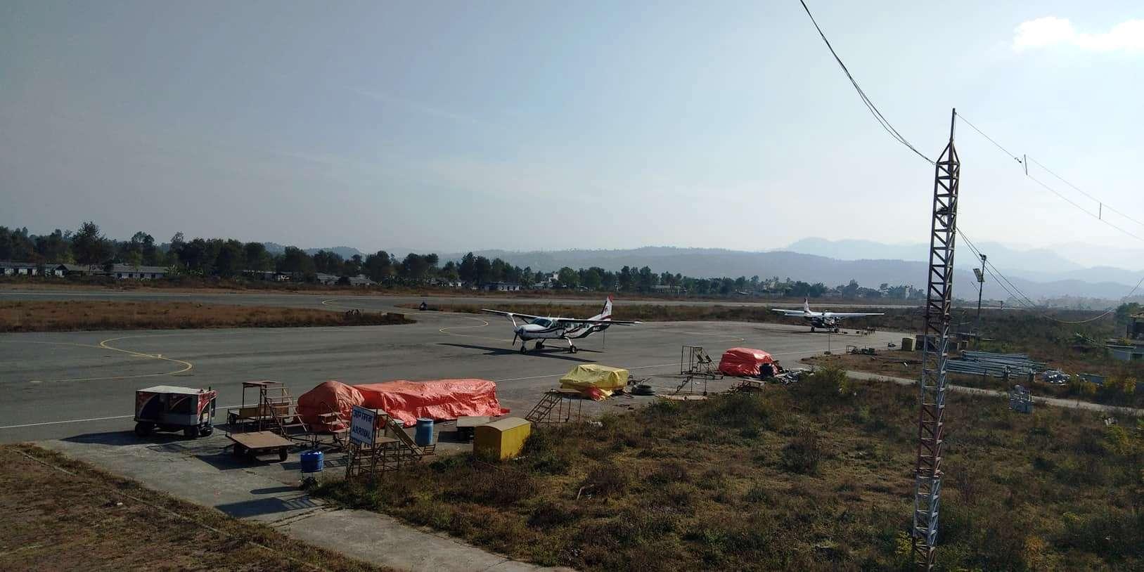 जोखिममा सुर्खेत विमानस्थल