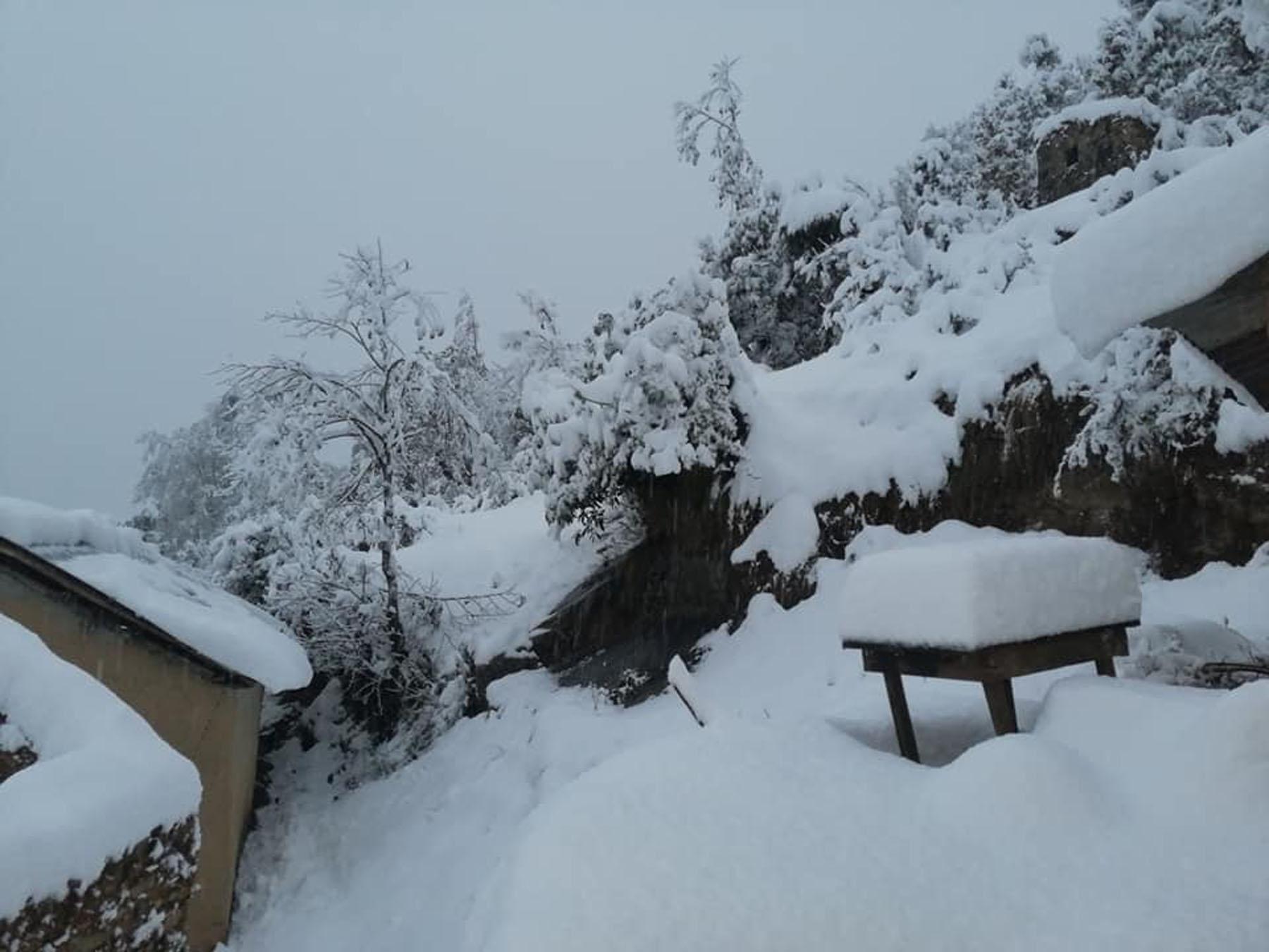 सुदूरपश्चिममा हिमपात जनजीवन प्रभावित