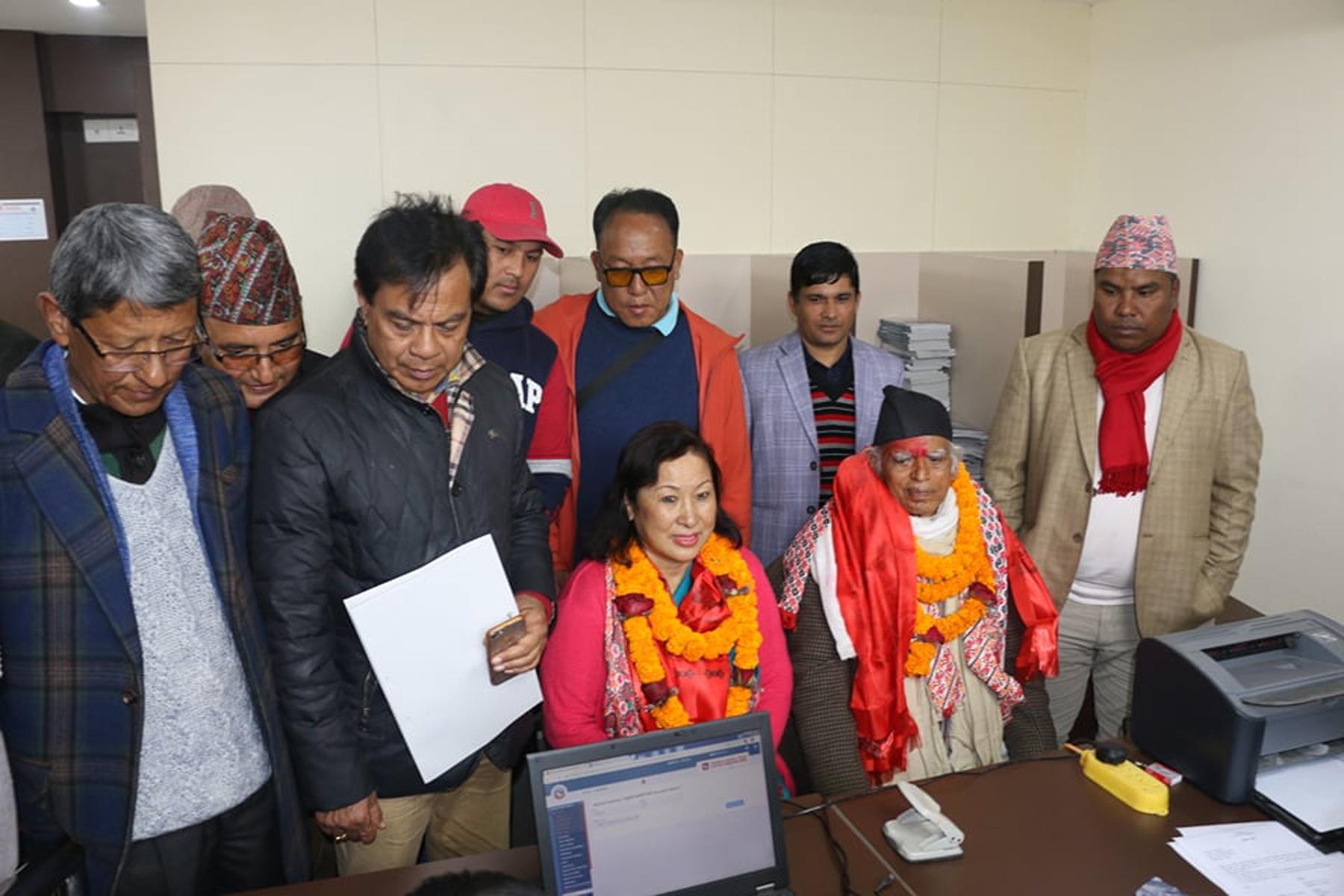 राष्ट्रिय सभाः नेकपा र काँग्रेस उम्मेदवारको मनोनयन दर्ता
