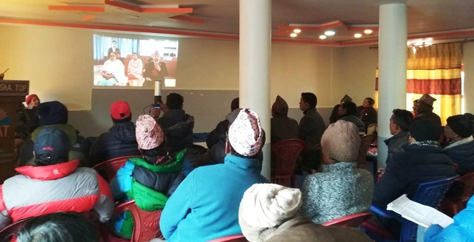 भिडियो कन्फ्रेन्समार्फत समितिलाई मुगालीकाे सुझाव