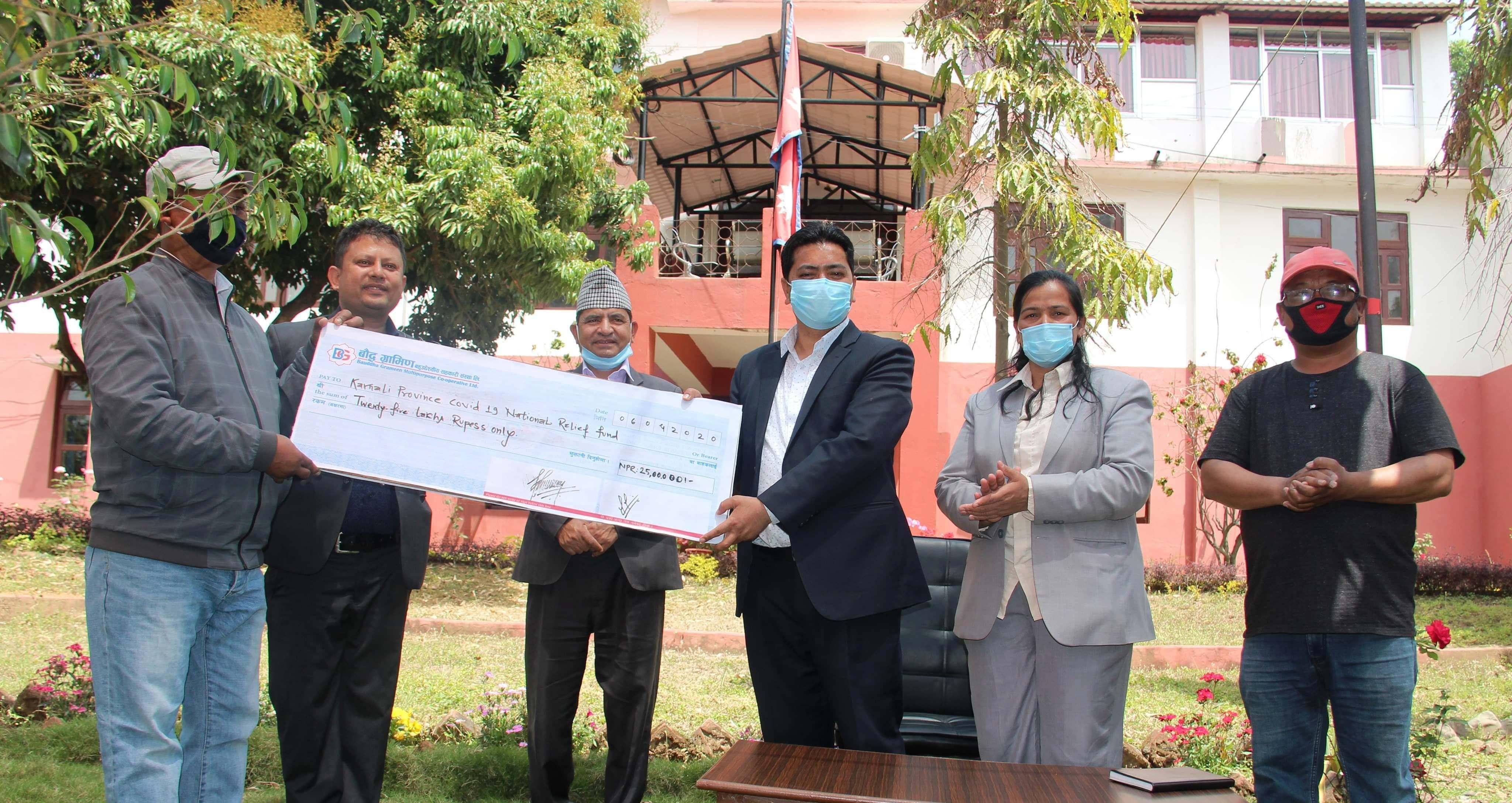 प्रदेश विपद् व्यवस्थापन कोषमा बौद्ध ग्रामीणको २५ लाख सहयोग