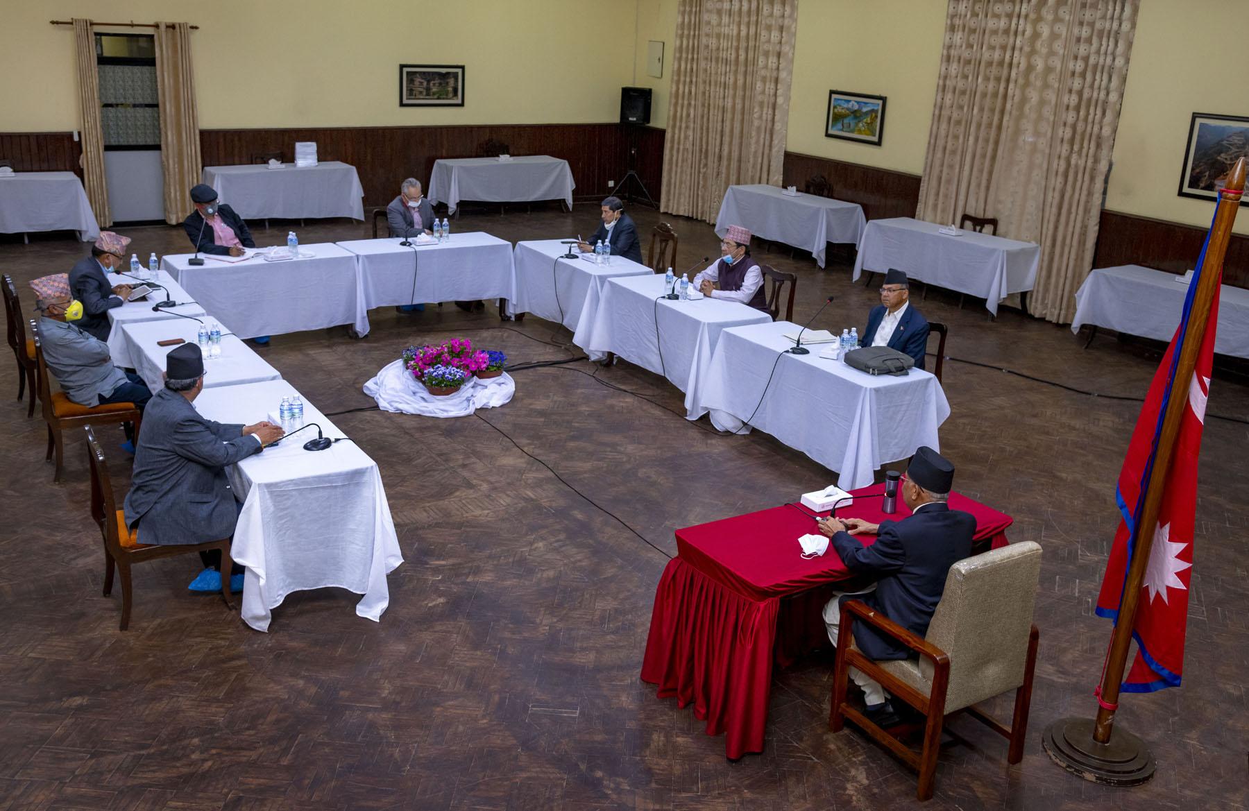 नेकपाको सचिवालय बैठकमा अध्यादेशबारे जानकारी