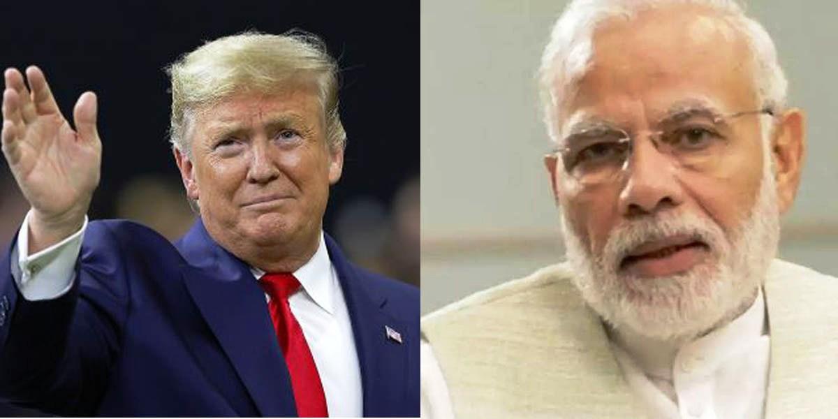 अमेरिकी राष्ट्रपति ट्रम्प र भारतीय प्रधानमन्त्री मोदीवीच फोनवार्ता