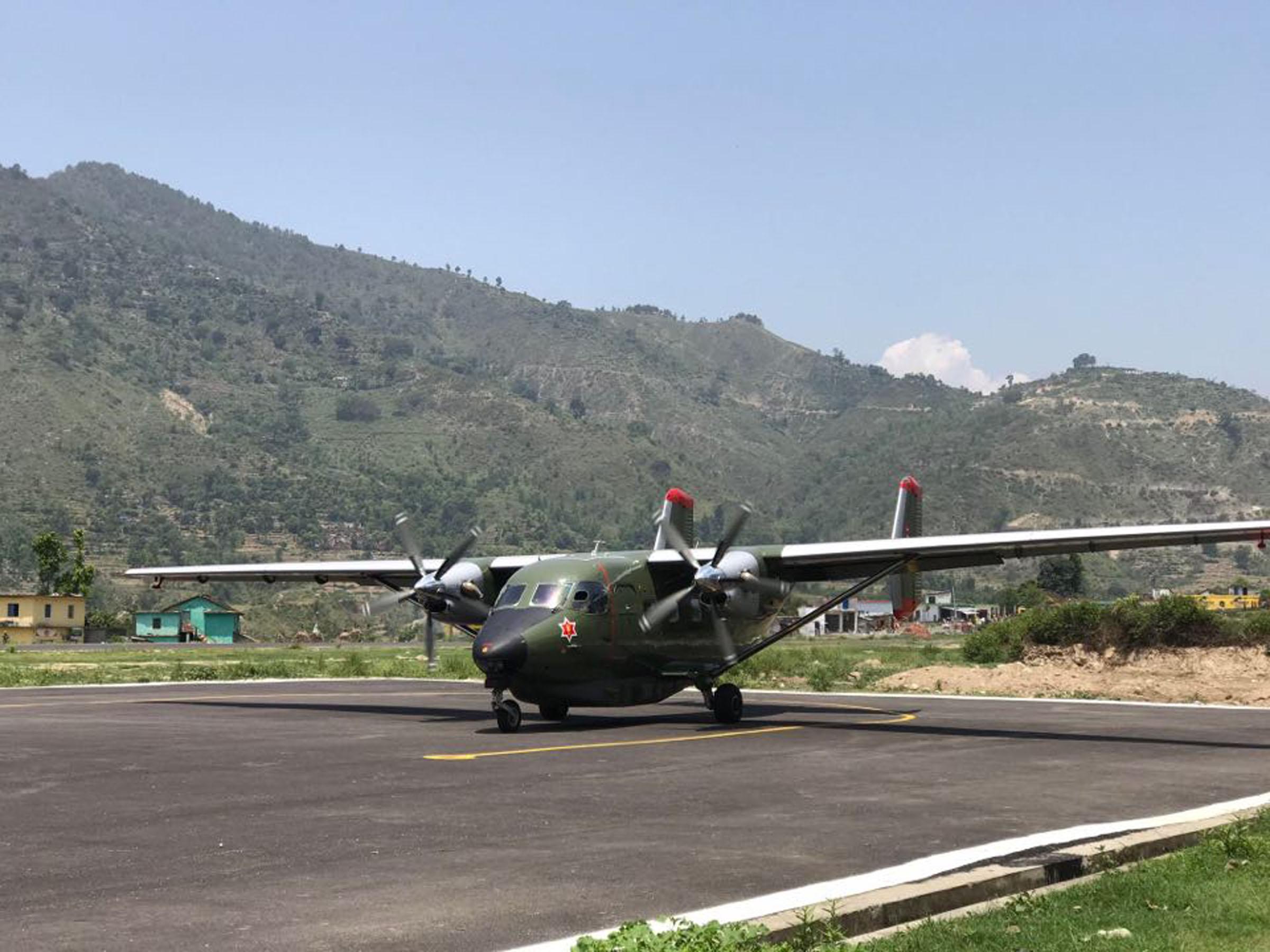 दिपायल विमानस्थलमा सेनाको परीक्षण उडान
