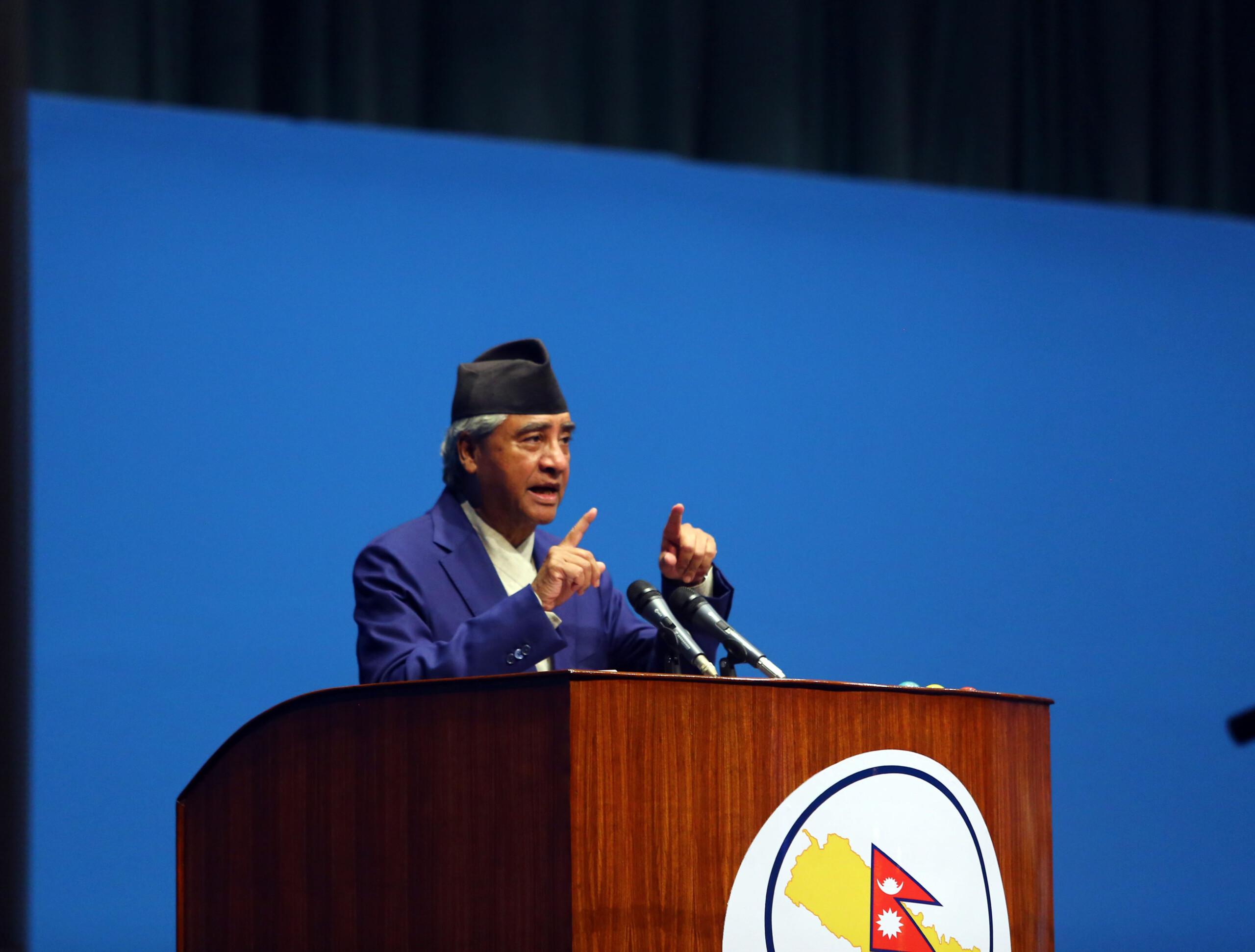 संविधान संशोधनमा राष्ट्रिय एकता झल्किएको छः सभापति देउवा