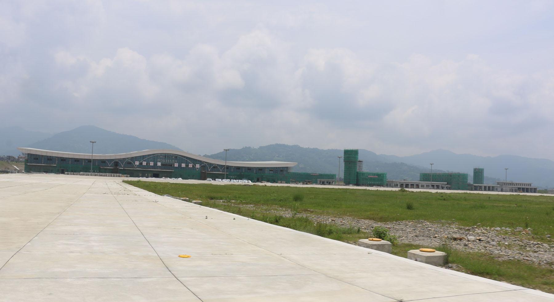 पोखरा क्षेत्रीय अन्तर्राष्ट्रिय विमानस्थलको ६० प्रतिशत काम सम्पन्न