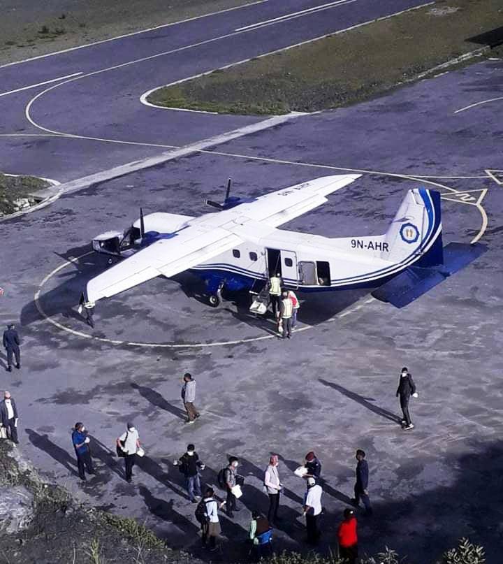 मुगुमा ३ महिनापछि हवाई सेवा