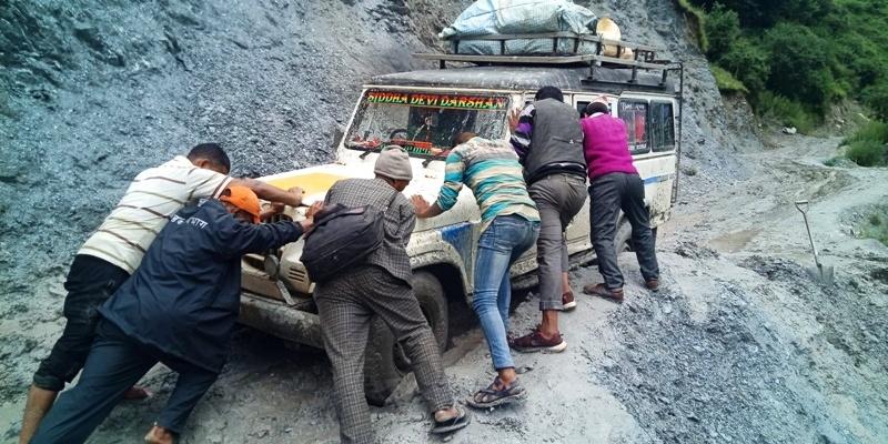 नाग्म–गमगढी सडकमा संधै सास्ती