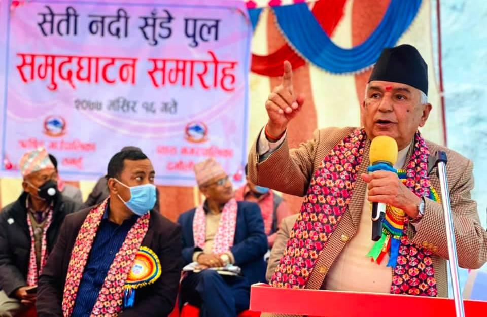 कांग्रेस वरिष्ठ नेता रामचन्द्र पौडेल प्रहरी हिरासतमा
