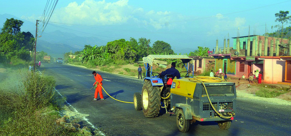 'गल्छी–रसुवागढी' सडक योजनाको काम ६५ प्रतिशत