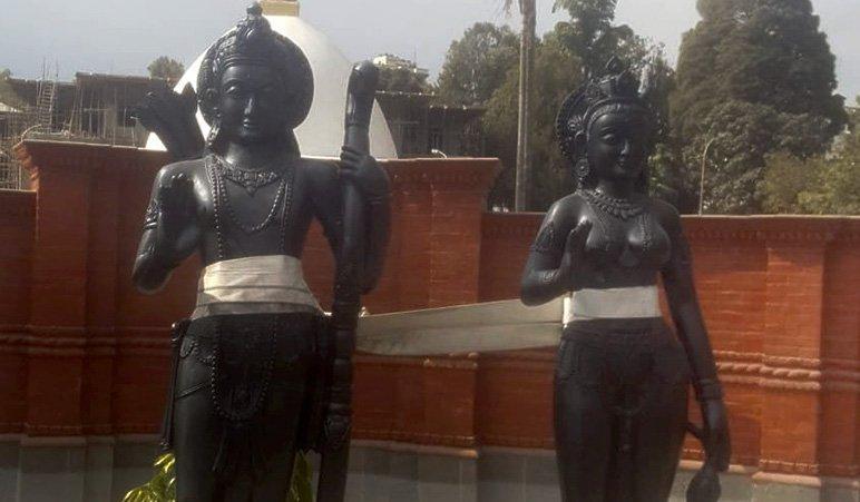 अयोध्याधाम बनाउन राम र सीताको मूर्ति तयार